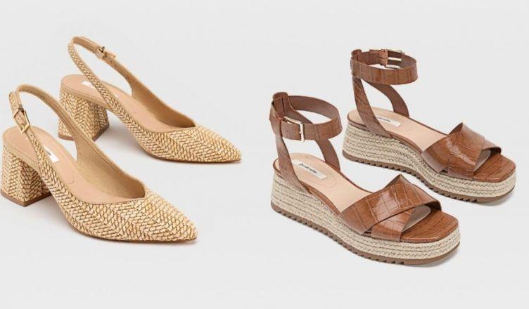 Las sandalias más bonitas de la nueva colección de rafia de Stradivarius