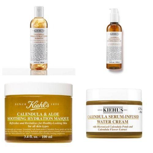 Productos de la colección de caléndula de Kiehl's