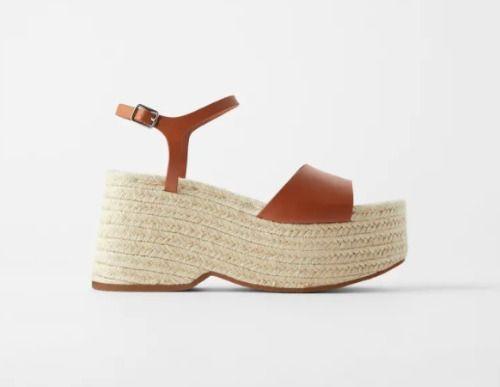 Sandalias con plataforma de yute para el verano