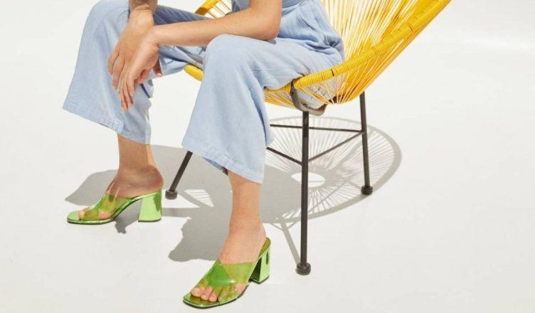 Sandalias de tacón de Bershka para el Verano 2020