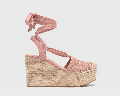 Sandalias estilo alpargata en color rosa