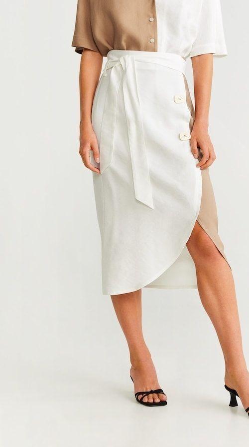 Una falda de Mango bicolor fabulosa para todo tipo de ocasiones