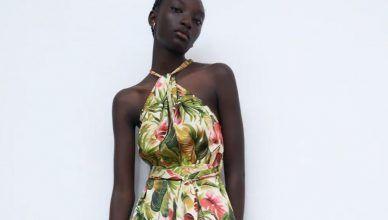 El mono largo de flores de Zara más elegante para el verano