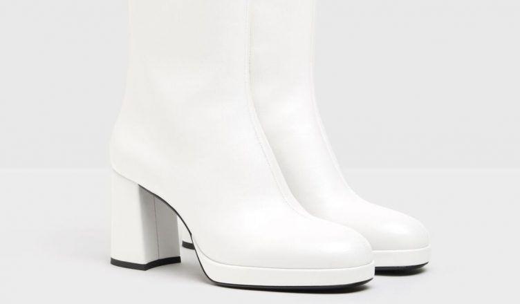 Descubre los nuevos botines de tacón blancos de Bershka para el otoño