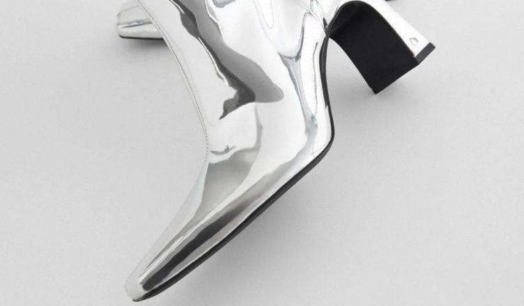 Estas botas altas metalizadas de Zara serán las reinas de la noche