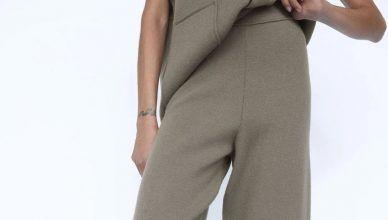 Estos pantalones de punto de Zara son los más cómodos que vas a encontrar