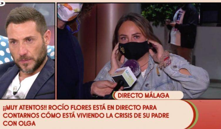 Las lágrimas de Rocío Flores al defender a su familia en Sálvame