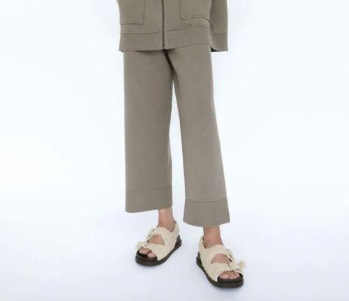 Pantalones de punto de Zara, ¡un 10 en comodidad!