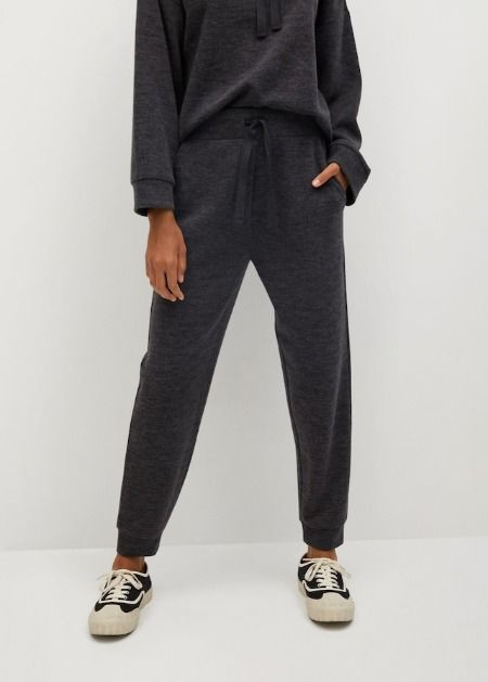 Pantalones estilo jogger de punto grises