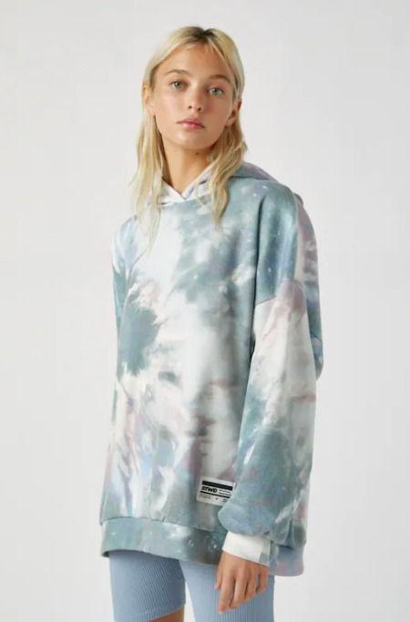 Sudadera con capucha y estampado tie-dye