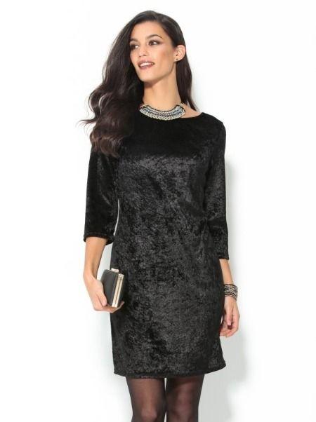 Vestidos de fiesta de Venca - Terciopelo negro