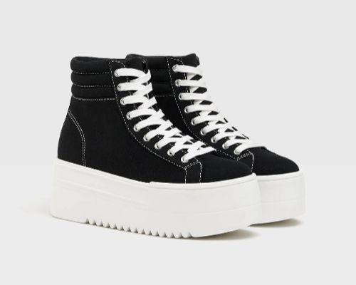 Zapatillas abotinadas con plataforma