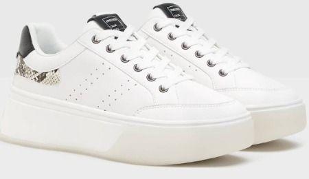Zapatillas blanca con print animal