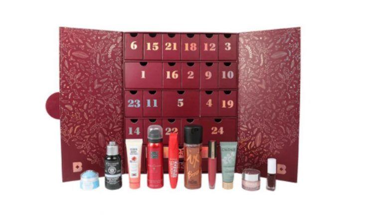 Calendario de Adviento de Birchbox de 2020, con productos de tratamiento y maquillaje