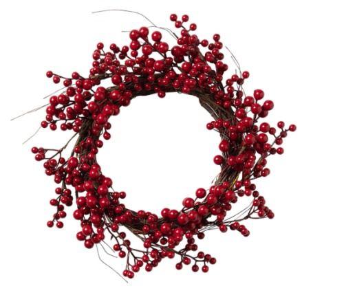 Coronas de Navidad de El Corte Inglés - Bayas rojas