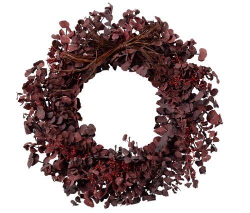Corona natural de eucalipto
