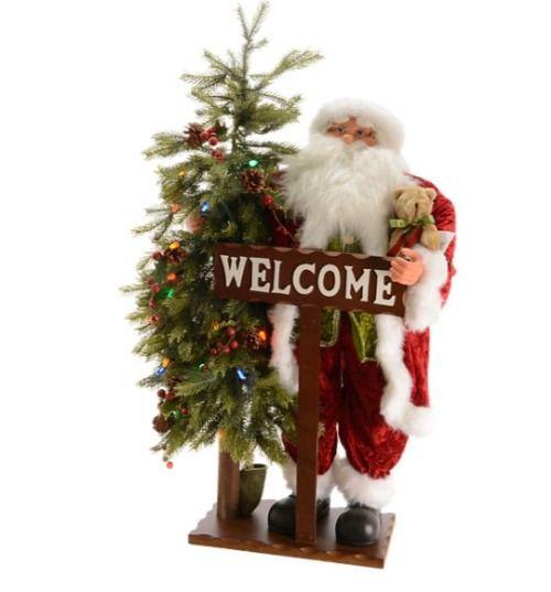 Figuras de Navidad de Leroy Merlin - Papá Noel con abeto y luces LED