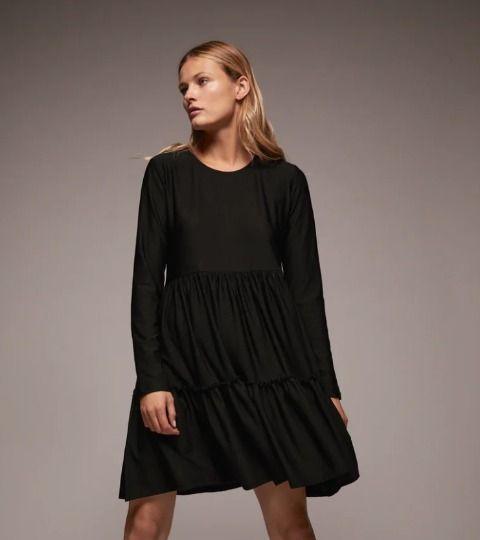 Vestidos cortos de Zara - Negro con volantes