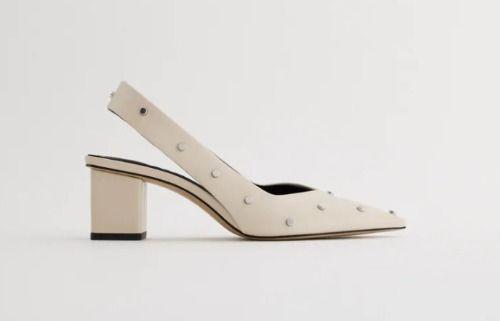 Zapatos de tacón de gato con rejilla en color malva