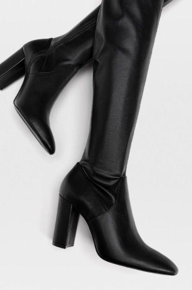 botas de tacón de Stradivarius