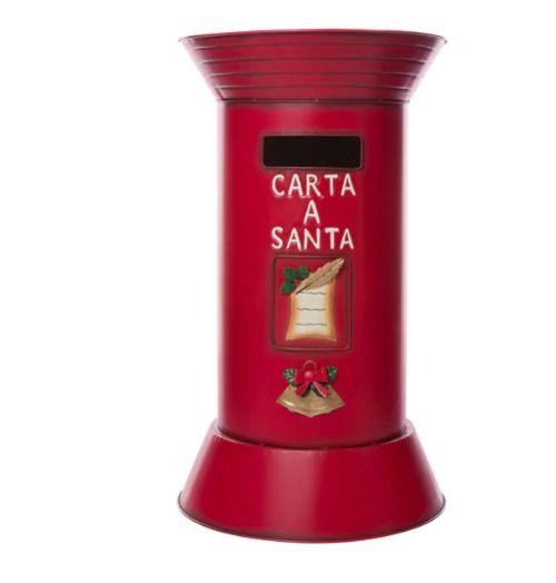 Buzón navideño rojo