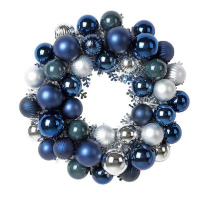Corona de bolas de Navidad