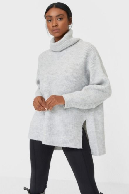 Jersey de cuello alto estilo oversize