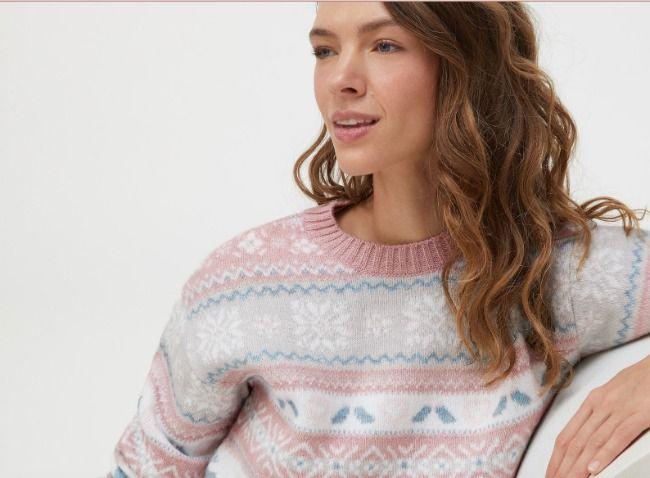 Este jersey navideño de Oysho es perfecto para cenar en Nochebuena con la familia