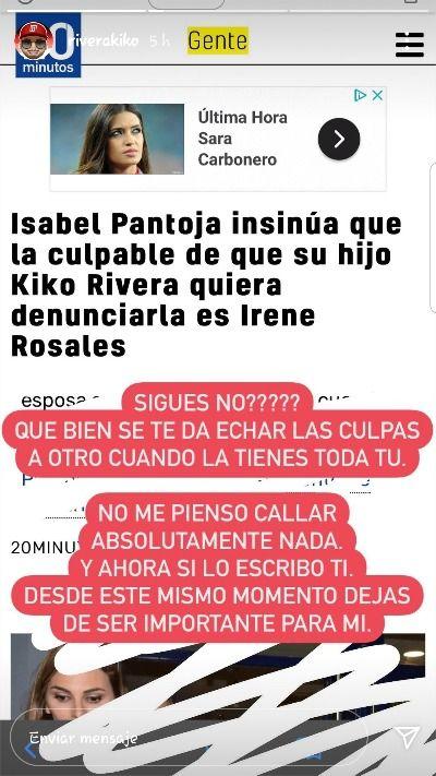 Kiko Rivera contra Isabel Pantoja