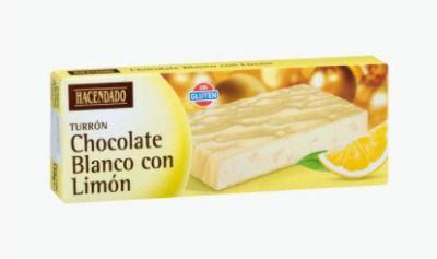 Turrón de chocolate blanco con limón