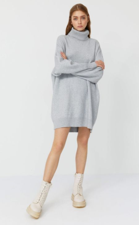 Vestido de punto estilo oversize